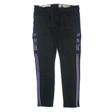 Distressed Cargo Purple Stripe Denim (Blk) /C8