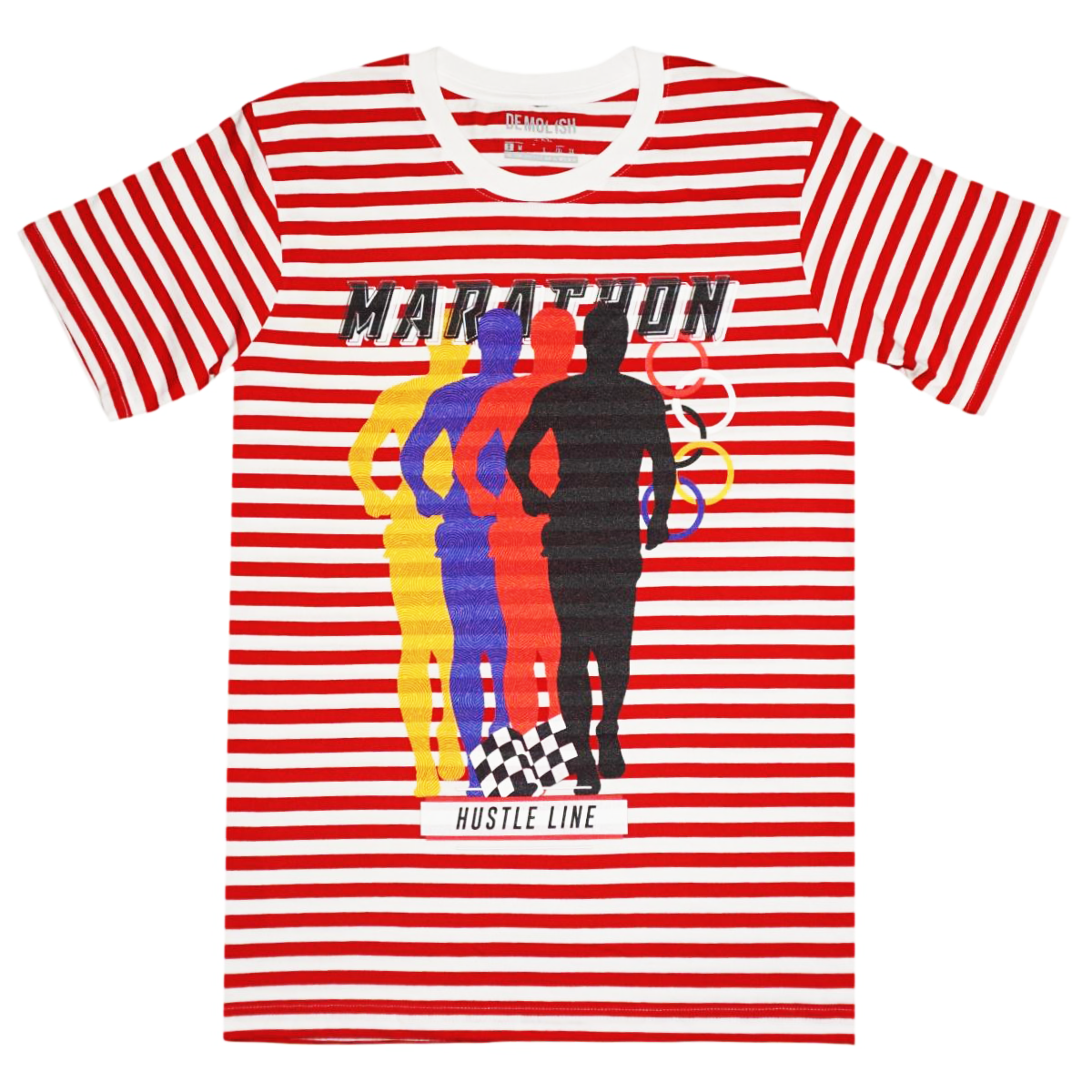Marathon Red/Wte Stripe Tee (Red) /D2