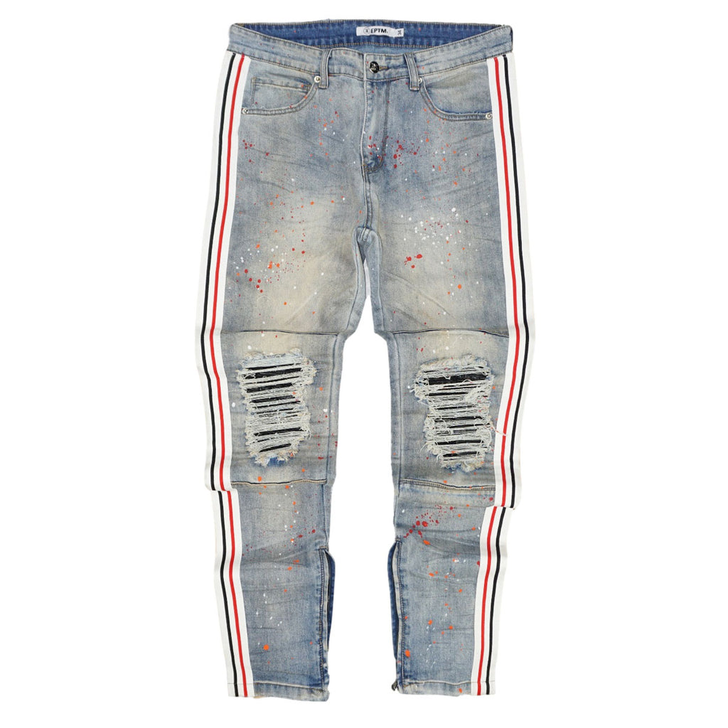 Splatter Taped Denim (Lt. Indigo) /C6