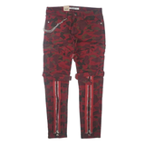 Baghdad Prem Camo Twill Zipper Cargo Denim (Red) /C6