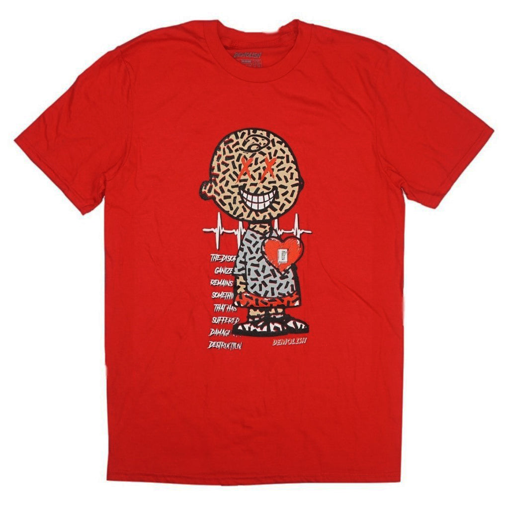 Charlie Puzzled Tee (Red/Grey) /D13
