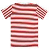 Global Warming Stripe Tee ( Red/Wte) / D2