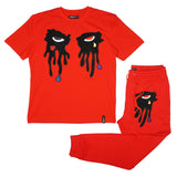 Tear Dripping Jogger Set (Red)/D16
