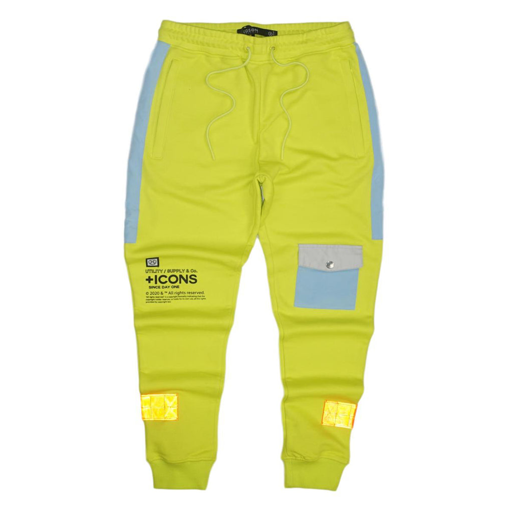 Stacked Pocket Joggers (Neon Yllw) /D8