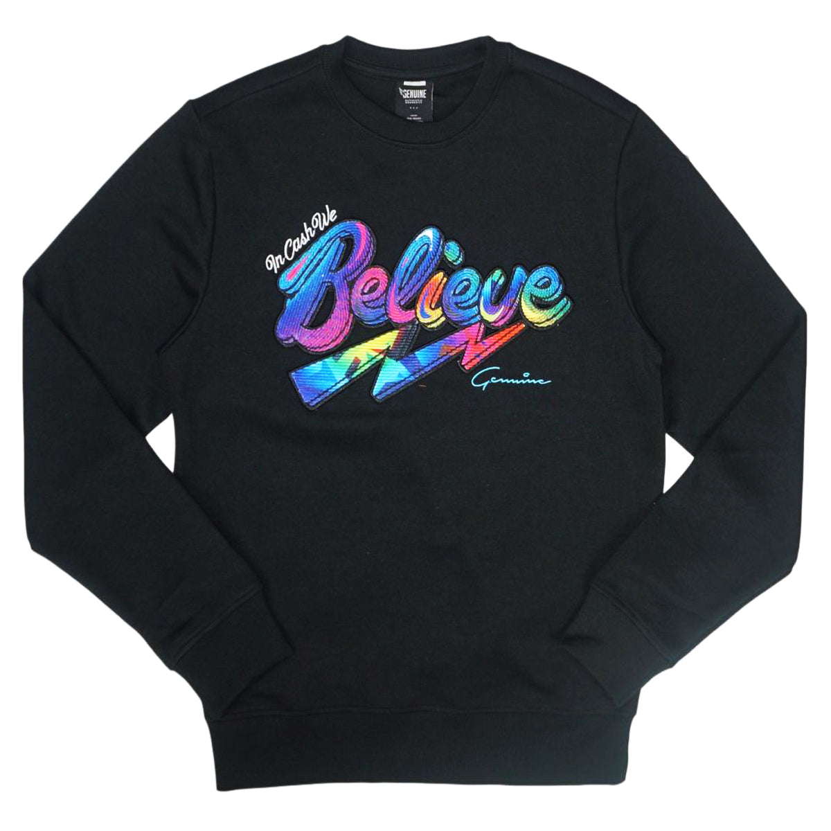 In Cash We Believe Crewneck (Black)/D?