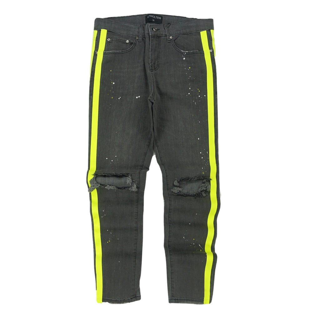 Double Striped Track Jeans (Neon/Grey) /C6