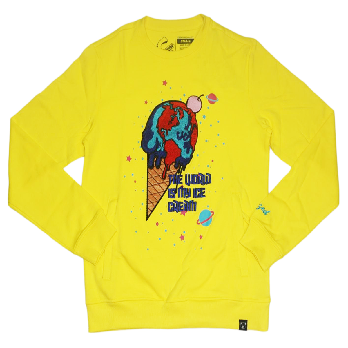Ice Cream Crewneck (Yellow) /D1