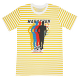 Marathon Yellow/Wte Stripe Tee (White) /D4