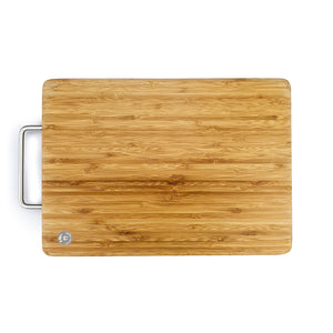 BRISSCOES - Bamboo Cutting Board Stainless Steel Handle