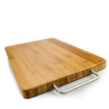 Load image into Gallery viewer, BRISSCOES - Bamboo Cutting Board Stainless Steel Handle