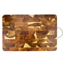 Load image into Gallery viewer, BRISSCOES - Acacia Wood Chopping Board with Stainless Steel Handle