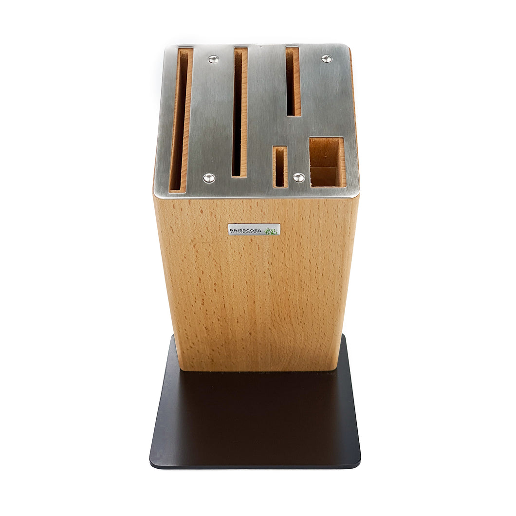 BRISSCOES - LUXOR Beech Wood Knife Block
