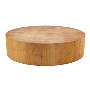 BRISSCOES - Round Beach Wood Butcher Block