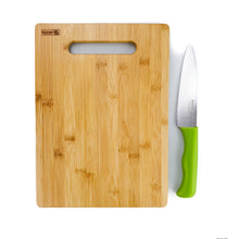 Load image into Gallery viewer, BRISSCOES - Bamboo Cutting Board with Stainless Steel Knife Set