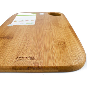 BRISSCOES - Bamboo Cutting Board with Rounded Edge
