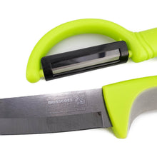 "Load image into Gallery viewer, BRISSCOES - LACO Ceramic Paring Knife 4"" with Ceramic Peeler Set"