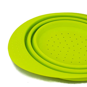 BRISSCOES - Green Silicone Collapsible Strainer