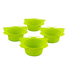 Load image into Gallery viewer, BRISSCOES - Green Silicon Cupcake Moulds x4