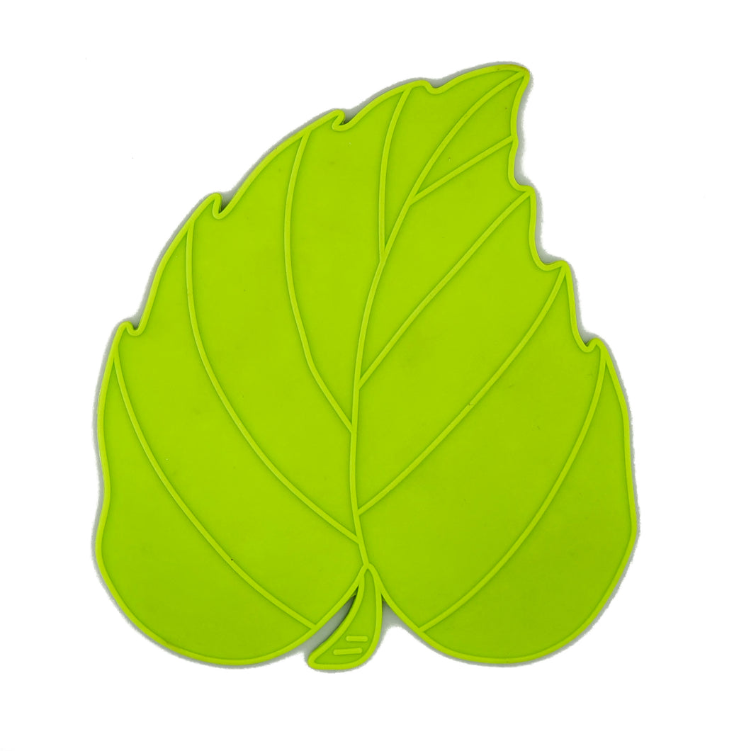 BRISSCOES - Green Silicone Hot Plate Rest LEAF