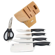 Load image into Gallery viewer, BRISSCOES - 4 Piece Knife & Scissor Set with Wooden Knife Block