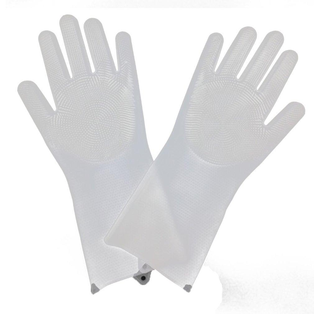 1 Pair Silicone Dish Washing Gloves (5 Corlors)