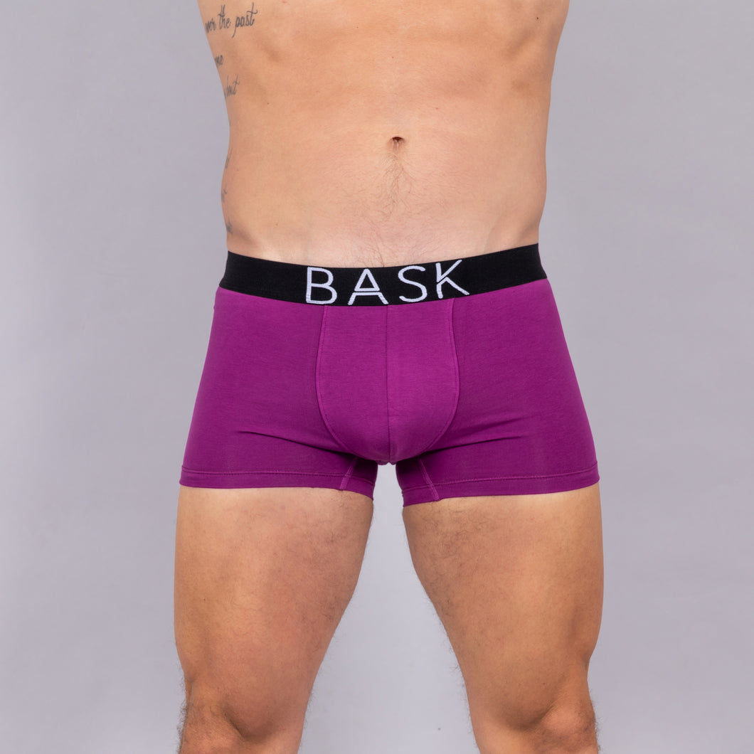 BASK Purple Boxer. Premium cotton blend for a silky soft touch.