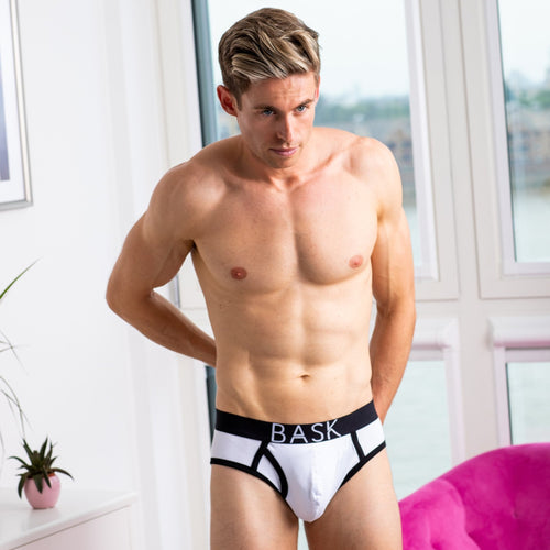 Bask menswear white briefs