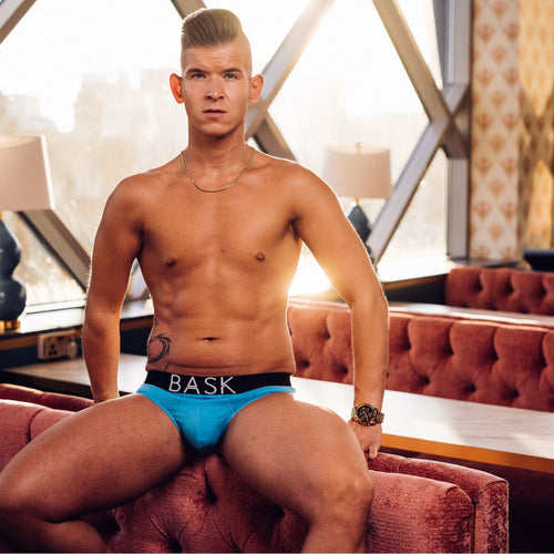 BASK Arctic Blue Brief | Black Waistband