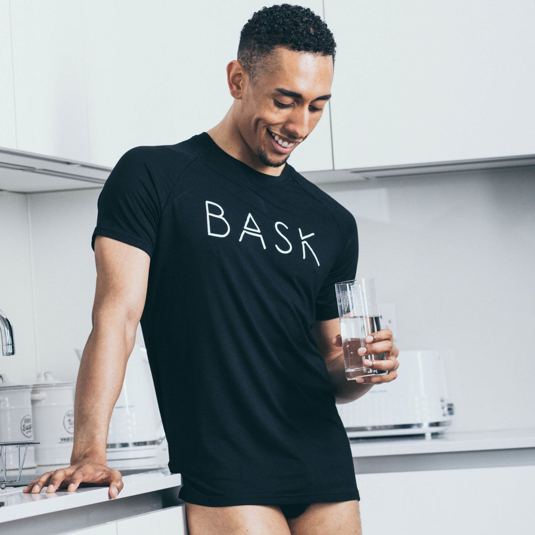 Bask Menswear black t-shirt