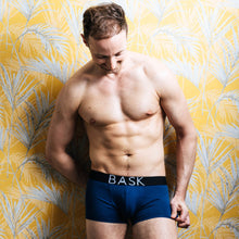 Load image into Gallery viewer, Bask menswear navy boxers