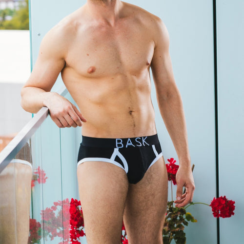 Bask menswear black briefs