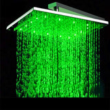 "10"" Luxury Ceiling Mount LED Rainfall Thermostatic Shower Set - Cascada Showers"