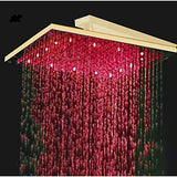 "12"" Luxury Ceiling Mount LED Rainfall Thermostatic Shower Set - Cascada Showers"