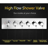 "15""x28"" Luxurious Recessed LED Shower System With 4 Types of Rainfall - Cascada Showers"