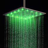 "16"" Oil Rubbed Bronze Ceiling Mount LED Rainfall Shower Set - Cascada Showers"