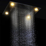 23 x 31 inch (600x800 mm) LED shower system with 4 function - Cascada Showers