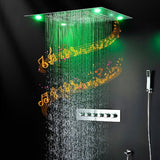 "23""x31"" Luxurious Classic Design recessed LED shower system built in Bluetooth speakers - Cascada Showers"