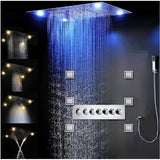 "23""x31"" Luxurious Classic Design recessed LED Shower System with built in Bluetooth Speakers & 4"" Body Jet - Cascada Showers"