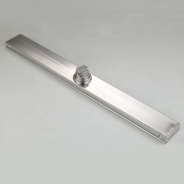 "24"" Stainless Steel Insert Linear Floor Drain for Shower, Rectangle - Cascada Showers"
