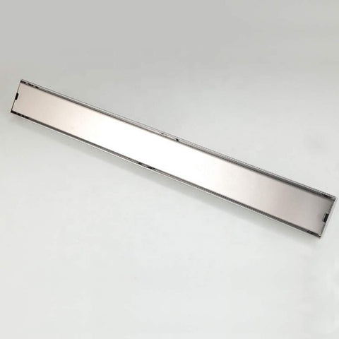 "48"" Stainless Steel Insert Linear Floor Drain for Shower, Rectangle - Cascada Showers"