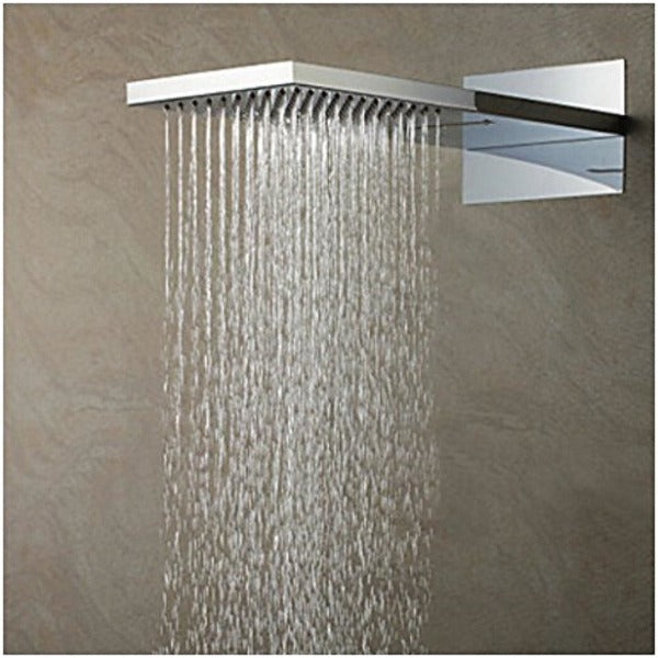 "9""x22"" Thermostatic Shower System With Automated LED Color Change - Cascada Showers"