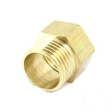 "G Thread (Metric BSPT) Male to NPT Female Adapter - Lead Free (3/4"" x 1/2"") - Cascada Showers"