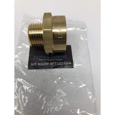 "G3/4"" Pipe fittings female Thread Water Pipe to 1/2"" NPT Male Adapter - Cascada Showers"
