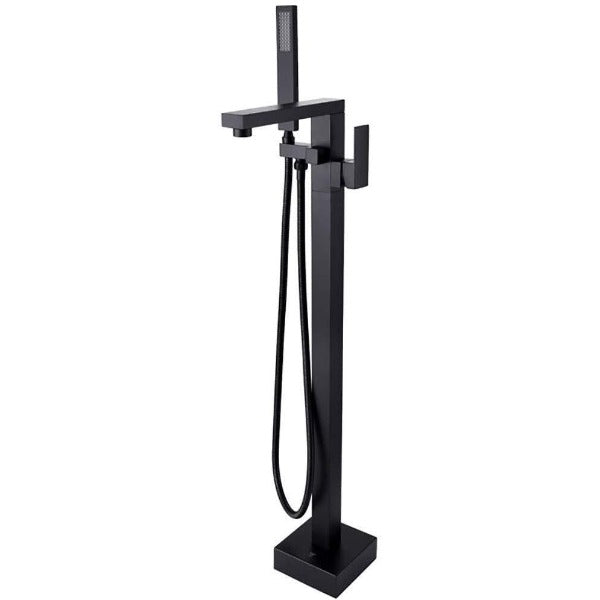 Luxury Classic Matt Black Floor Standing Dual Handle Shower Faucets - Cascada Showers