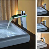 Single Handle Color Changing LED Faucet Auto Temperature - Cascada Showers