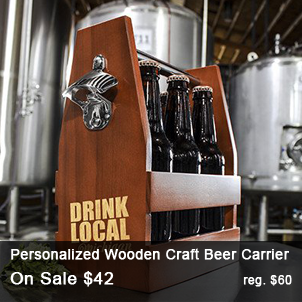 Personalized Wooden Craft Beer Carrier