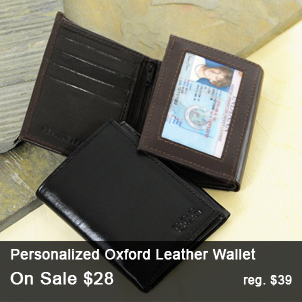 Personalized Oxford Leather Wallet
