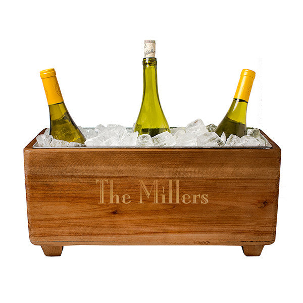 Personalized Wooden Wine Trough - Personalized Gifts for Men - GUYVILLE