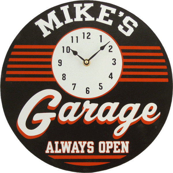Personalized Garage Clock - Personalized Gifts for Men - GUYVILLE