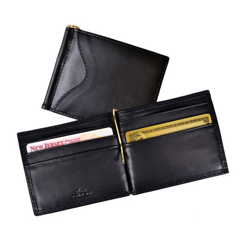 Personalized Leather RFID Blocking Money Clip Wallet